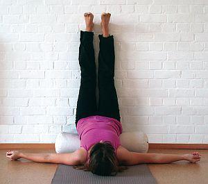 Yoga Übung - Viparita Karani