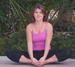 Yoga-Übung-Baddha-Konasana