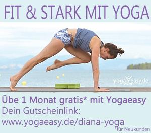 Yoga üben mit YogaEasy