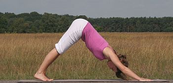 Yoga-Übung-abwärtsgerichteter-Hund-Adho-Mukha-Svasana