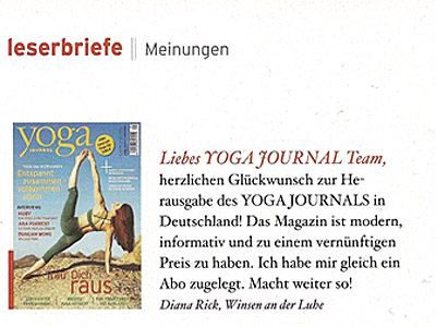 Leserbrief-Yoga-Journal