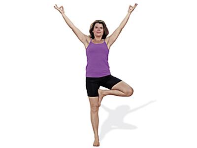Yoga-Uebung-Baum-Vrksasana