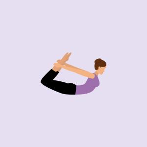Yoga-Übung der Bogen