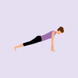 Yoga-Übung Planke