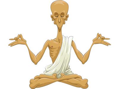 von Emotionen beim Yoga überwältigt