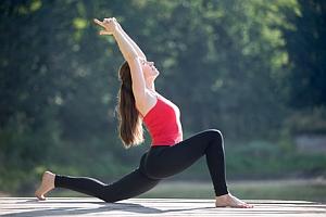 Yoga-Übung der tiefe Lungs
