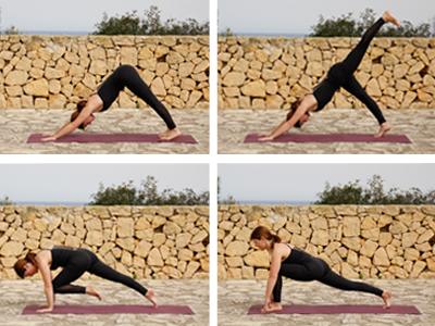 Übergang im Yoga-Flow