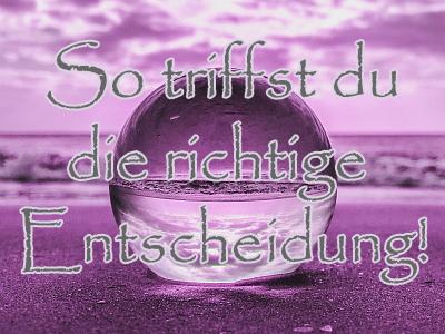 Vertraue auf deine Intuition