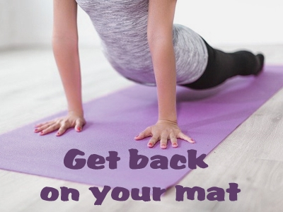 Zurück zur Yoga-Routine