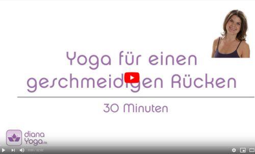 Yoga Video fuer den oberen Ruecken