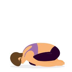 Yoga Uebung Kindhaltung