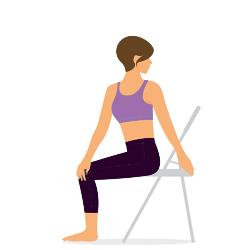Yoga Twist auf dem Stuhl