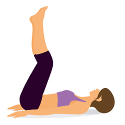 Yoga Uebung Viparita Karani